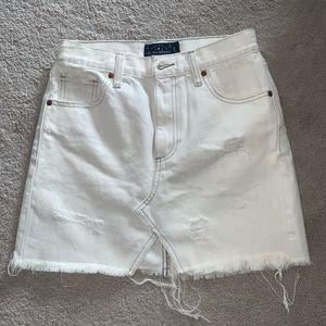 Lucky Brand White Jean Skirt